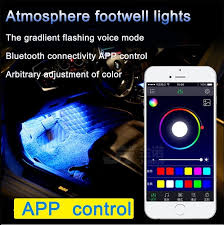 Color Interior Lights For Cars Motors Light 12 Led Car Lights Interior Foot Mood Light With Phone