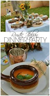 Easy Italian Dinner Party Recipes - rustic italian dinner party and gluten free tiramisu