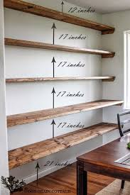 Wood Shelves For Walls Best 25 Rustic Wall Shelves Ideas Only On Pinterest Diy Wall