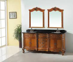 antique bathrooms designs oak veneer double bowl antique bathroom vanity with marble top in
