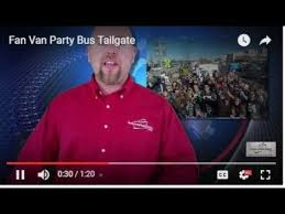 fan van party bus fan van party bus tailgate youtube