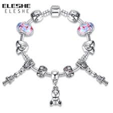 bracelet charm beads silver images New design murano glass crystal beads silver charm bracelets for jpg