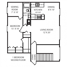 large 1 bedroom apartment floor plans images about guest house on pinterest studio apartment one bedroom