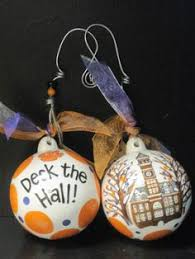 clemson polka dot ornament south carolina ornament