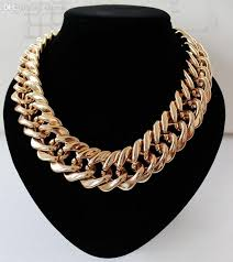 gold choker necklace wholesale images 2018 wholesale statement rose gold plated chunky chian collar jpg