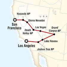 map usa los angeles los angeles to san francisco express in united states