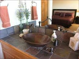 bathroom ideas vessel sinks bathroom under frameless mirror and