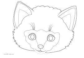 printable animal masks coloring gekimoe u2022 35163
