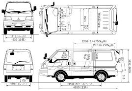 van mitsubishi delica mitsubishi delica 1986 blueprint download free blueprint for 3d