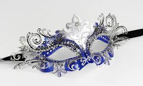 masquerade masks for prom laser cut metal venetian mask masquerade blue silver rhinestone