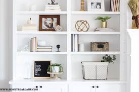 how to style a bookcase how to style bookshelves honeybear lane