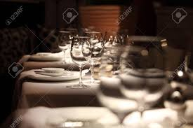 Set Table by Beautifully Set Table In A Restaurant Stock Photo Picture And