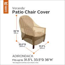 Amazon Patio Furniture Covers by Amazon Com Classic Accessories Veranda Adirondack Patio Chair