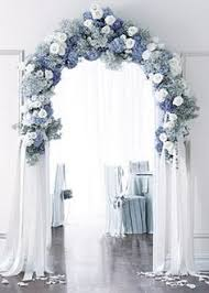 wedding arch entrance blue and white floral arch entryway floral arch reception and