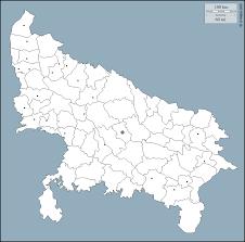 Up Map Uttar Pradesh Free Map Free Blank Map Free Outline Map Free