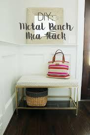 ikea bench diy metal bench ikea hack darling darleen a lifestyle design blog