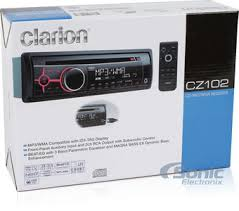 clarion cz102 single din car stereo w aux input
