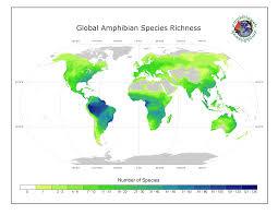 World Wide Map Amphibiaweb Worldwide Amphibian Declines