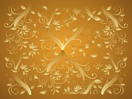 gold these gold curving and elegant flowers and plants will make