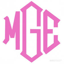 monogram stickers search products marleylilly