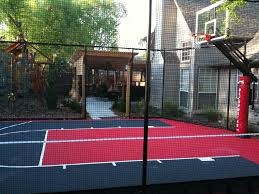 mesmerizing small backyard basketball court dimensions images
