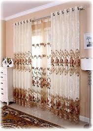 Amazoncom Shunshan Luxury Window Curtains For Living Room Set Of - Living room curtain sets