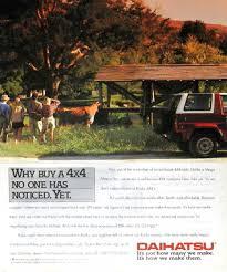 curbside classic 1990 daihatsu rocky se u2013 technical knockout