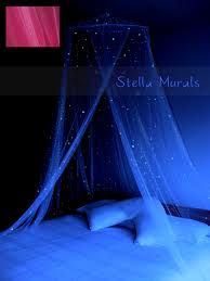 Glow In The Dark Gazing Ball Glow In The Dark Bed Canopy Sprinkle Her Bed With Stars