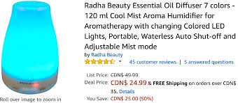 amazon canada deals save 50 on radha beauty essential oil