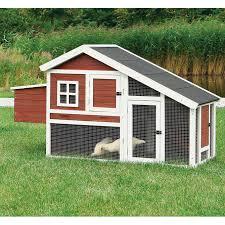 trixie dark brown u0026 white chicken coop with a view