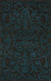 Rugs With Teal Flooring Lovely Rugs Satara Sr 07 Teal Rug With Floral Pattern In