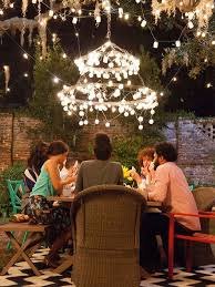 outdoor string light chandelier 15 places to hang christmas lights easily the listify