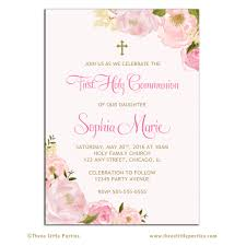 floral first communion