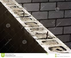 concrete block house cinder blocks house concrete foundation wall royalty free stock