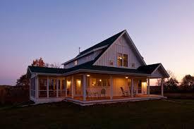 unique farmhouse for mid size family w porch plans available