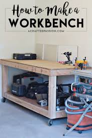 Simple Wood Workbench Plans by Best 25 Rolling Workbench Ideas On Pinterest Woodworking Shop