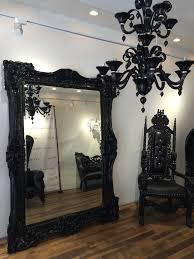 black gothic arch mirror vanity and nightstand decoration picture frames black shabby chic frames by mountaincoveantiques ornate floor standing mirror