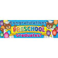 congratulations graduation banner congratulations preschool graduates banner