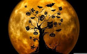 cute halloween ghost wallpaper halloween owls and bats orange hd desktop wallpaper widescreen