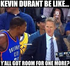 nba memes on twitter kd trying to join the warriors after those