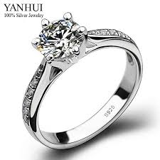 925 sterling silver engagement rings yanhui 100 925 sterling silver engagement ring s925 sted 6