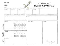 advanced fighting fantasy character sheet platonic solid for
