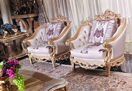 European Living Room Furniture Luxury Baroque Style Living Room Furniture Sofa Set
