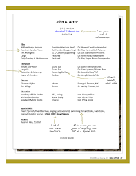 Actor Resume Template Architectural Drafter Resume Templates Virtren Com