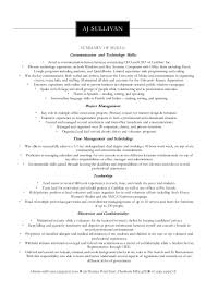 Ba Roles And Responsibilities Skills Based Resume Aj
