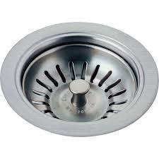 Delta  In Kitchen Sink Flange And Strainer In Arctic - Stainless steel kitchen sink strainer