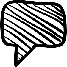 speech bubble sketch free interface icons