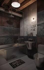 Industrial Bathroom Design Industrial Bathroom With Antique Brass - Industrial bathroom design