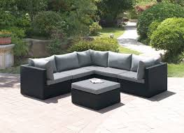 Patio Furniture Sectional - lizkona outdoor patio 6 pcs corner sectional sofa set by poundex