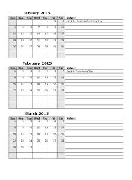 2015 monthly calendar template 15 u2013 free printable templates
